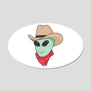 cowboy alien copy.jpg 20x12 Oval Wall Decal