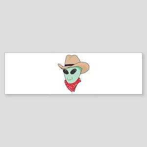 cowboy alien copy Sticker (Bumper)