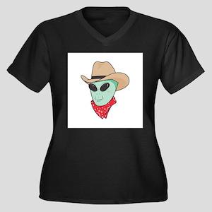 cowboy alien copy.jpg Women's Plus Size V-Neck Dar