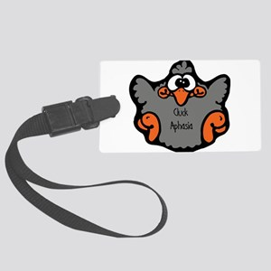 cluck-aphasia Large Luggage Tag