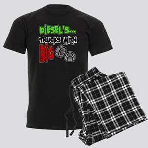 Diesels Trucks With Big Nuts Men's Dark Pajamas