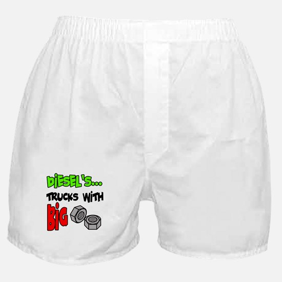 Diesels Trucks With Big Nuts Boxer Shorts