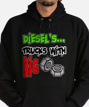 Diesels Trucks With Big Nuts Hoodie (dark)