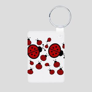 Lady Bugs Aluminum Photo Keychain