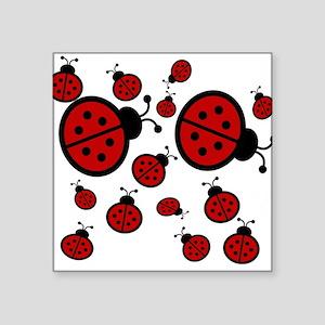 "Lady Bugs Square Sticker 3"" x 3"""