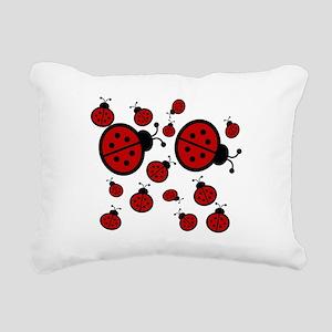 Lady Bugs Rectangular Canvas Pillow