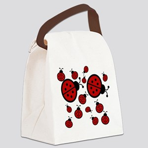 Lady Bugs Canvas Lunch Bag