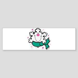 happy sniley snowflake Sticker (Bumper)
