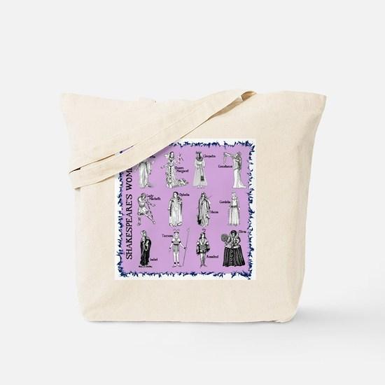 Shakespeare's Women Square Tote Bag