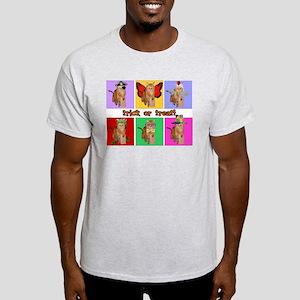 Trick or Treat Cat Ash Grey T-Shirt