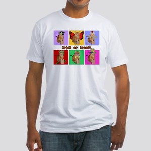 Trick or Treat Cat Fitted T-Shirt