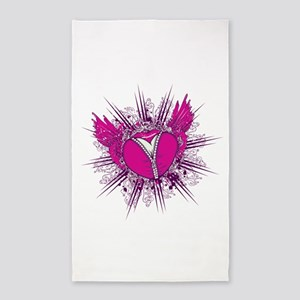 funky unzipped heart vector illustration 3'x5'