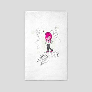 cute emo girl swirls vector illustration 3'x5'