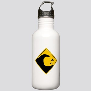 Tsunami Warning Stainless Water Bottle 1.0L