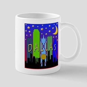 Dallas Skyline nightlife Mug
