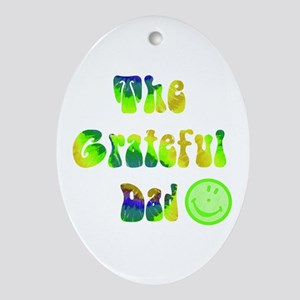 The grateful dad Ornament (Oval)