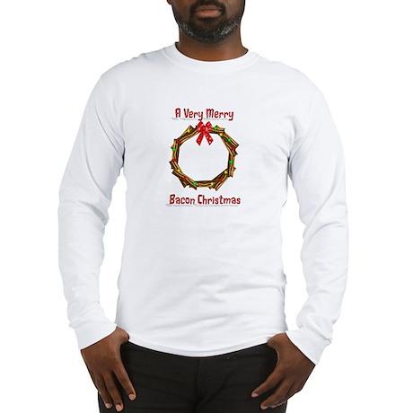 Christmas Bacon Wreath Long Sleeve T-Shirt