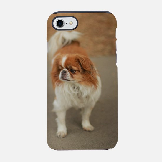 Japanese chin on path at park  iPhone 7 Tough Case
