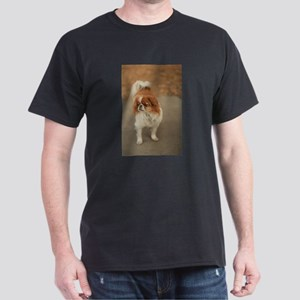 Japanese chin on path at park in san Jose T-Shirt