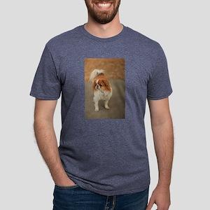 Japanese chin on path at pa Mens Tri-blend T-Shirt