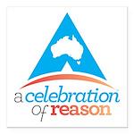 "A Celebration of Reason Square Car Magnet 3"""