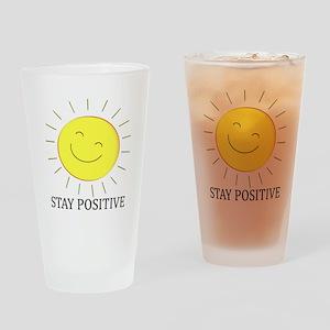 Happy Positive Sun Drinking Glass