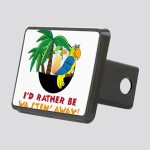 I'd Rather Be Wastin' Away Rectangular Hitch Cover