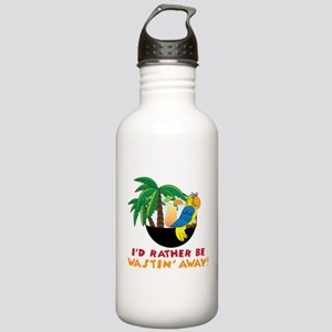 I'd Rather Be Wastin' Away Stainless Water Bottle