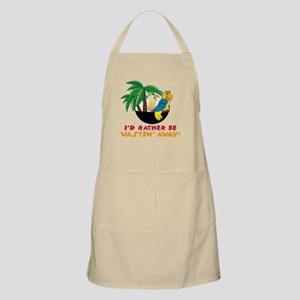 I'd Rather Be Wastin' Away Apron
