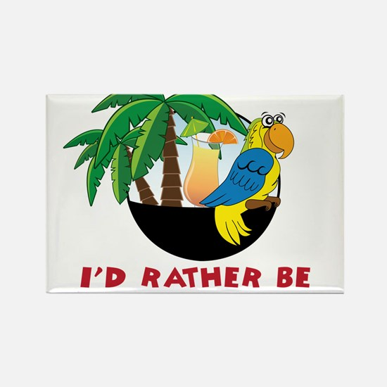 I'd Rather Be Wastin' Away Rectangle Magnet