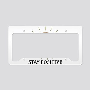 Happy Positive Sun License Plate Holder