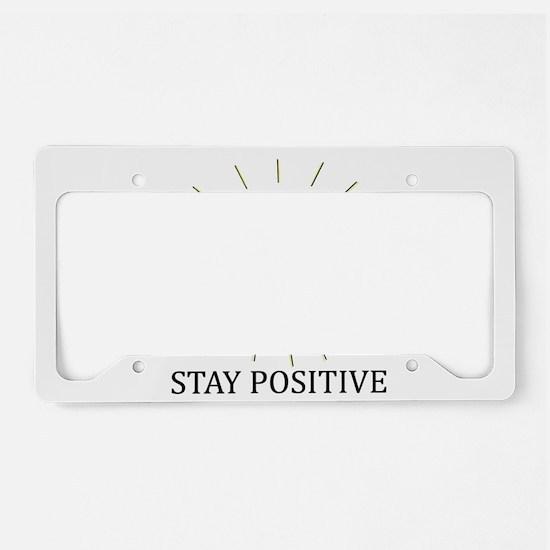 Happy Positive Sun License Plate Holder