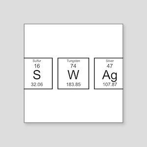 """Periodic Table SWAg Square Sticker 3"""" x 3"""""""
