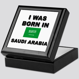I Was Born In Saudi Arabia Keepsake Box