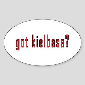 got kielbasa? Sticker (Oval)
