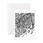 Null And Void Facial Pattern Greeting Card