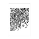 Null And Void Facial Pattern Mini Poster Print