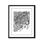 Null And Void Facial Pattern Framed Panel Print