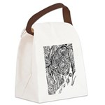 Null And Void Facial Pattern Canvas Lunch Bag