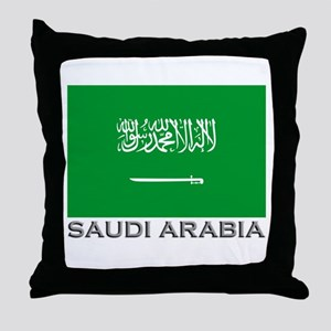 Saudi Arabia Flag Stuff Throw Pillow