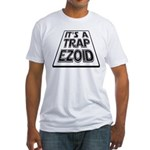 It's A Trapezoid Funny Pun Fitted T-Shirt
