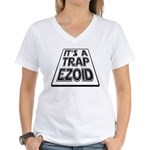 It's A Trapezoid Funny Pun Women's V-Neck T-Shirt