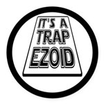 It's A Trapezoid Funny Pun Round Car Magnet