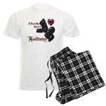 Biker Valentine's Day Men's Light Pajamas