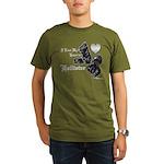 Biker Valentine's Day Organic Men's T-Shirt (dark)