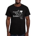 Biker Valentine's Day Men's Fitted T-Shirt (dark)