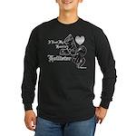 Biker Valentine's Day Long Sleeve Dark T-Shirt