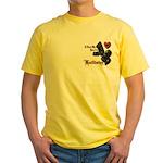 Biker Valentine's Day Yellow T-Shirt