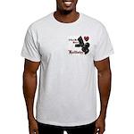 Biker Valentine's Day Light T-Shirt