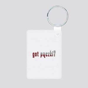 got paczki? Flag Aluminum Photo Keychain